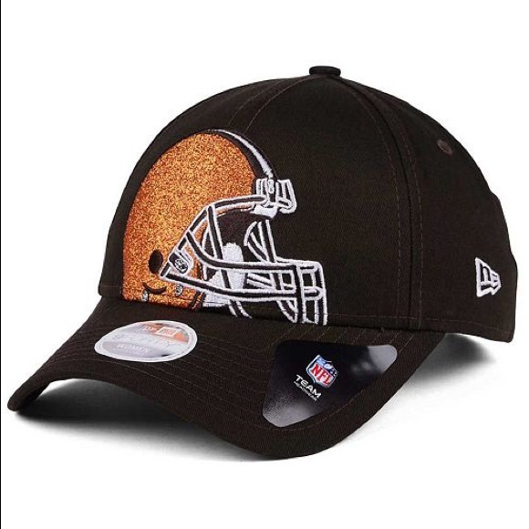 size 40 c98f0 7ebac NWTs NEW ERA Browns Glitter Glam 9Twenty Hat Cap